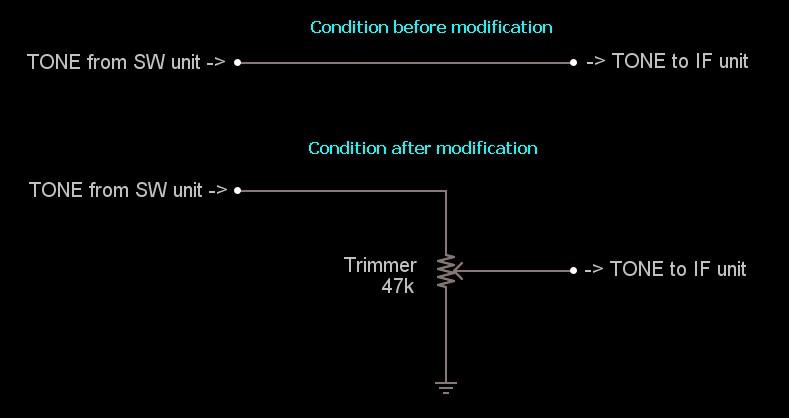 Fixing Sub Audio Tone in Kenwood TS-790E